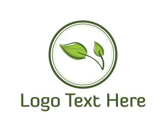 Small Business - Leaf Circle logo design