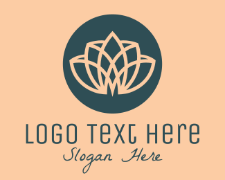 Makeup Artist - Spa Minimalist Yoga Lotus logo design