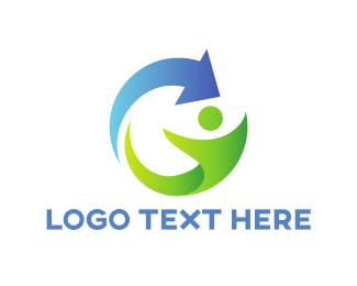 Organization - Green Character logo design