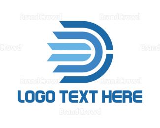 Engineering - Blue Modern D logo design
