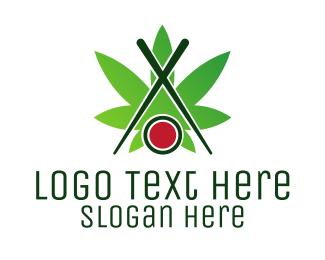 Maki - Sushi Cannabis logo design