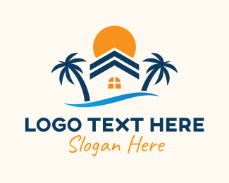 Villa - Beach House Villa logo design