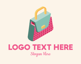 Fashion - 3D Handbag Fashion logo design