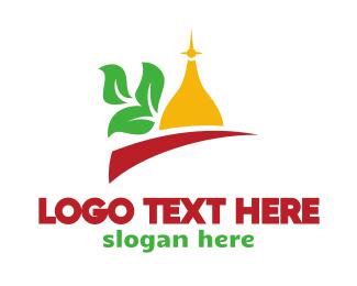 Aladdin - Taj Mahal Leaf  logo design