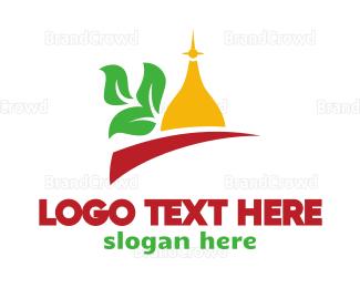 Cathedral - Taj Mahal Leaf  logo design