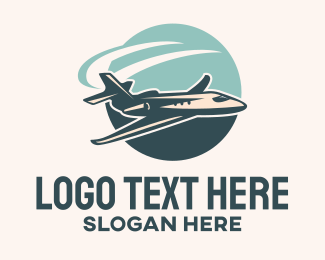Glider - Jet Plane Flight logo design