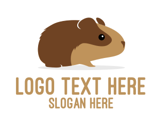 Pig - Brown Guinea Pig logo design