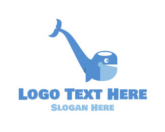 Smoking - Smoking Pipe Whale logo design
