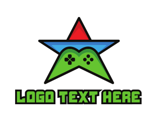 Twitch - Colorful Star Gaming logo design