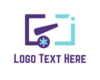 Programing - Purple Cannon  logo design