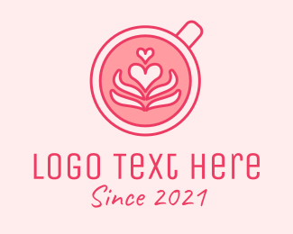Coffee Date - Pink Coffee Lover logo design