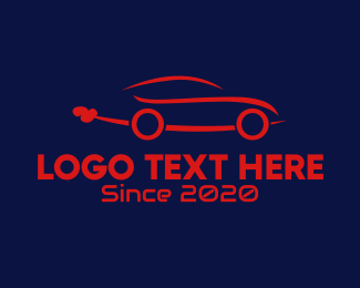 Car Hire - Red Car logo design