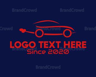 Car Hire - Blue Car logo design