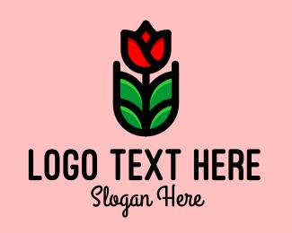 Gardener - Blooming Rose Garden  logo design