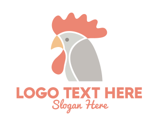 Chicken Nugget - Chicken Rooster Head logo design