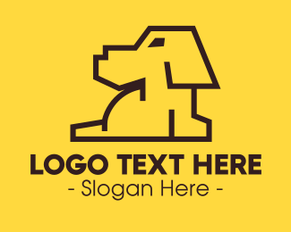 Dog Sitting - Minimalist Dog logo design