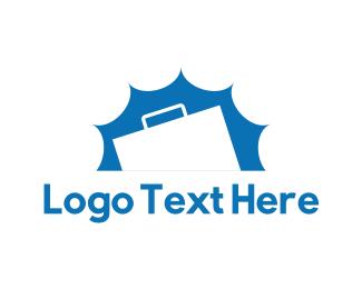 Handbag - White Briefcase logo design