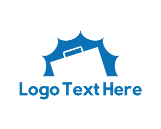 Briefcase - White Briefcase logo design