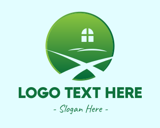 Window Glass - Window Path Circle logo design