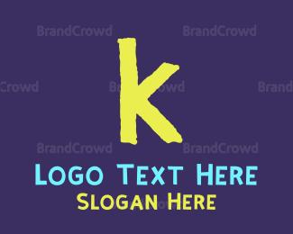 Letter K - Toddler Letter K logo design