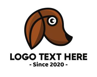 Brown Puppy - Modern Brown Dog logo design
