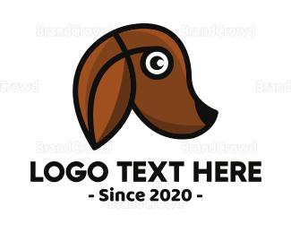 Pet Care - Modern Brown Dog logo design