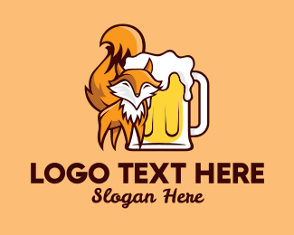 Bourbon - Fox Beer logo design
