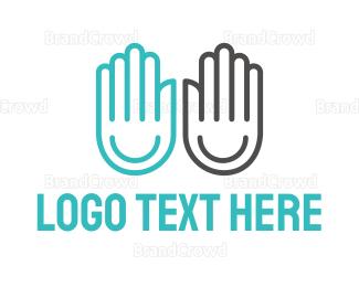 Duo - Happy Hands logo design