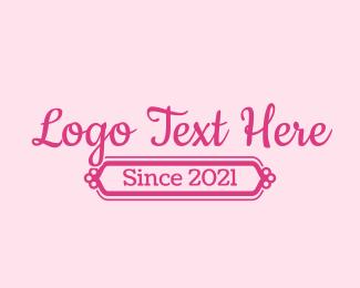 Girly - Fancy Girly Wordmark logo design