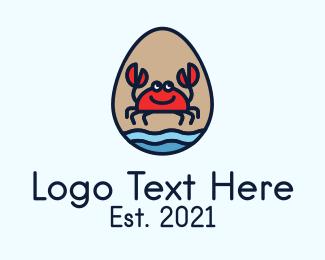 Sea - Sea Crab Egg logo design