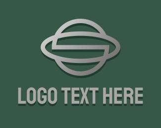 S - Metallic Planet Letter S logo design