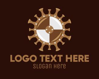 Defend - Covid Virus Shield logo design