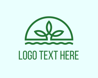 Agriculture - Water Plant logo design