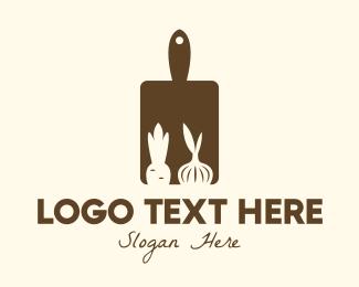Produce - Brown Vegetable Kitchen Board logo design