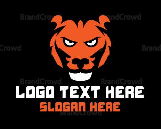 No - Wild Tiger logo design