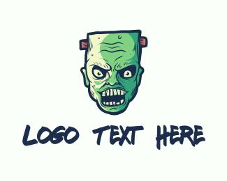Horror - Wicked Frankenstein Zombie logo design