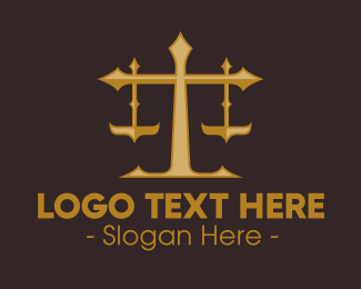 Legal Attorney - Golden Judicial Office logo design