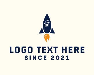 Town - Rocket City logo design