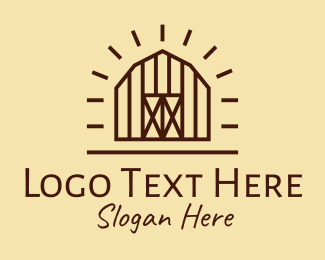 Farm - Countryside Farm Barn logo design