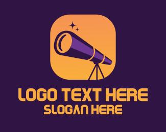 Astronomy - Astronomy Telescope App logo design