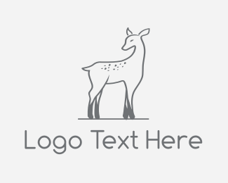 Zoo - Deer Fawn logo design