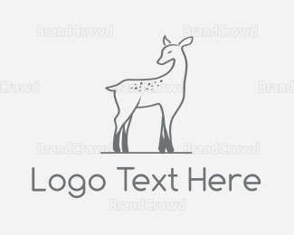 Kids - Deer Fawn logo design