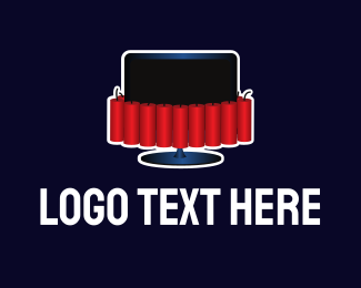 Tv - Dynamite Television logo design