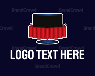 Explode - Dynamite Television logo design