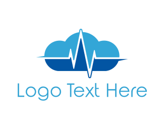Cardiology - Pulse Cloud logo design