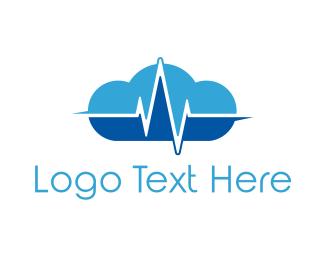 Heartbeat - Pulse Cloud logo design