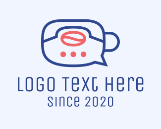 Conversation - Coffee Delivery Chat logo design