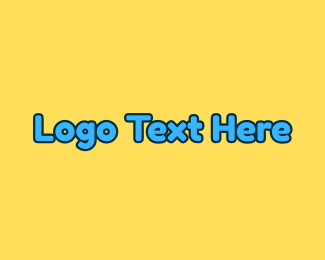 """Blue Text Wordmark"" by brandcrowd"