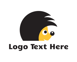 Hedgehog - Hedgehog Hairstyle logo design