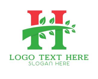 Environmentalist - Red Green Tree H logo design
